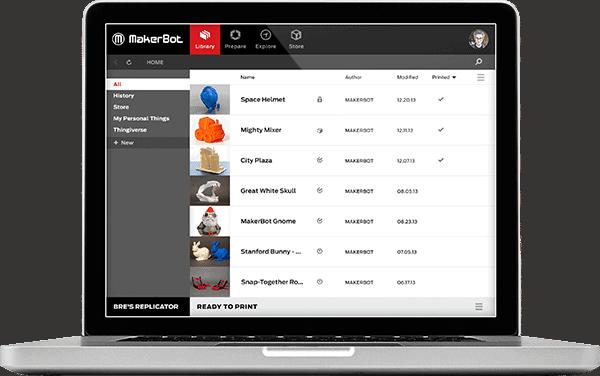MakerBot Desktop alkalmazás