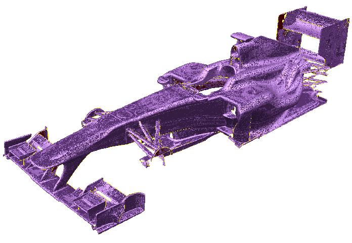 3D szkennelt versenyautó