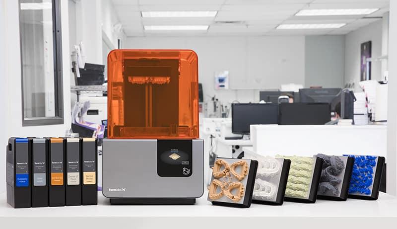Form 2 fogászati 3D nyomtatás alapanyagpaletta