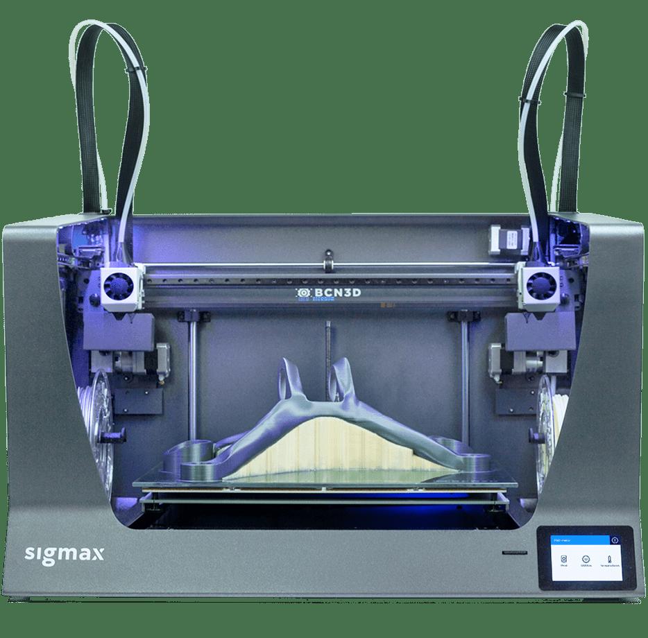 BCN3D Sigma-R19 és Sigmax-R19 független kétfejes 3D nyomtatók