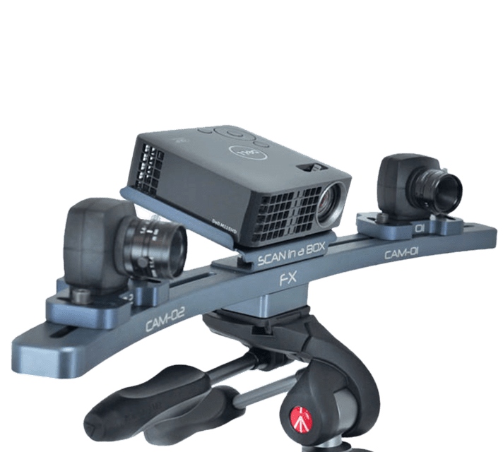 Scan in a box-FX telepített 3D szkenner