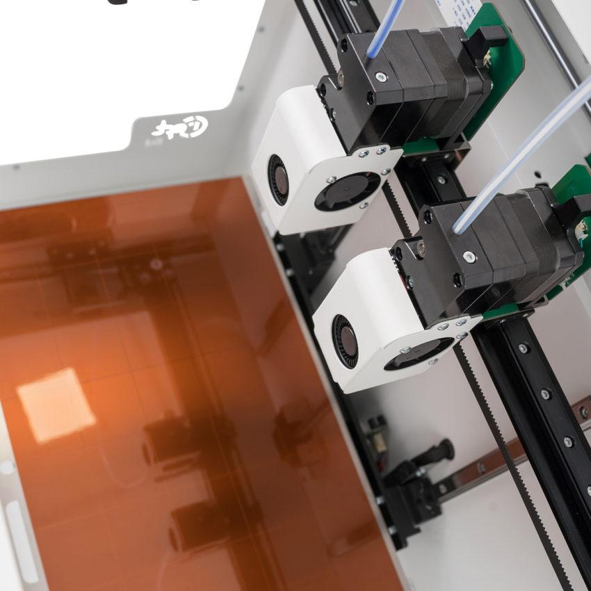 CraftBot Flow IDEX 3D nyomtató munkatere