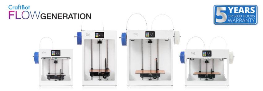 A CraftBot Flow 3D nyomtató család