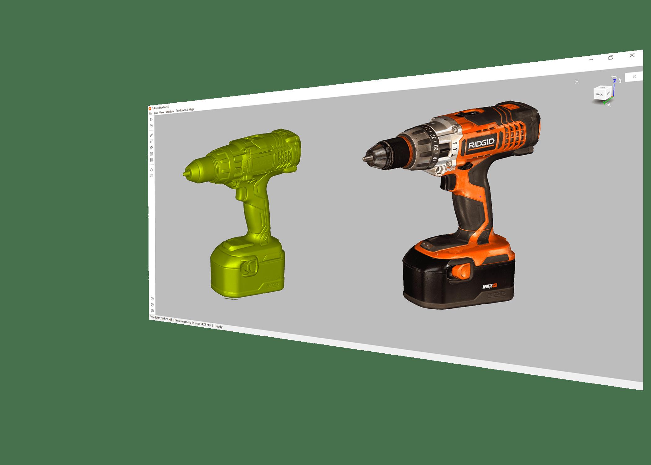 Artec Studio 3D szkennelési szoftver